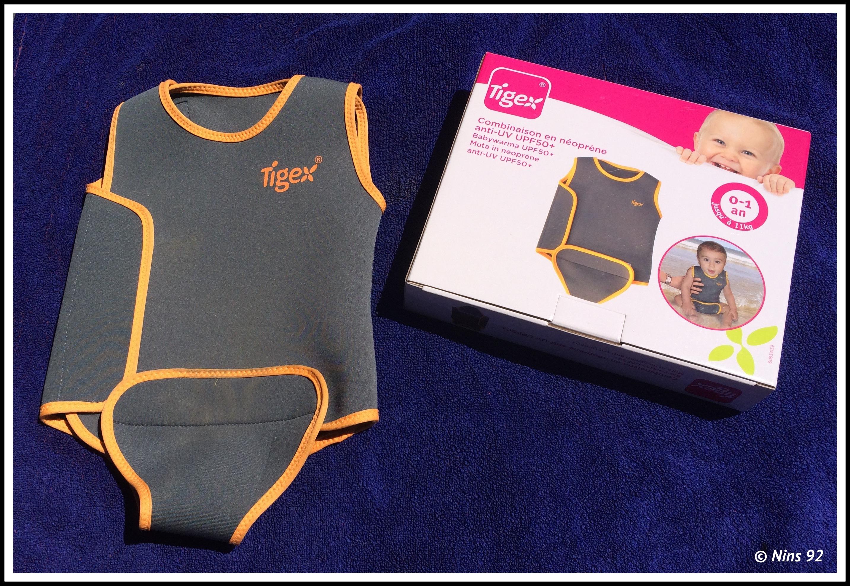 Baby Combinaison Neoprene Maillot Bébé Anti-uv Upf50 Tigex 0-1 An 11kg Maxi